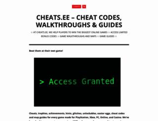 cheats.ee screenshot
