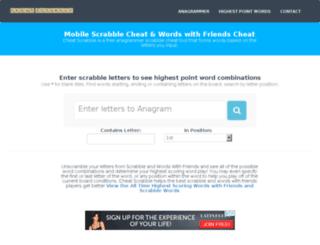 cheatscrabble.com screenshot