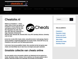 cheatsite.nl screenshot