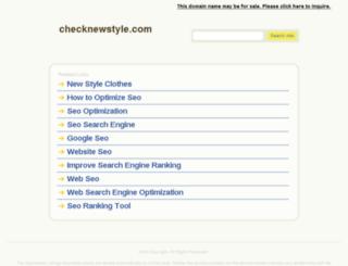 checknewstyle.com screenshot