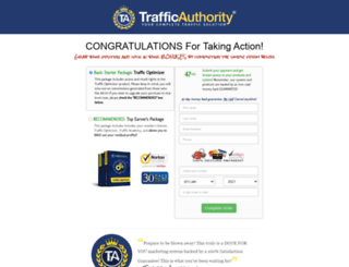 checkout.trafficauthority.net screenshot