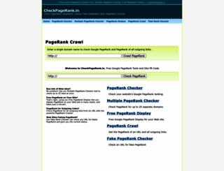 checkpagerank.in screenshot