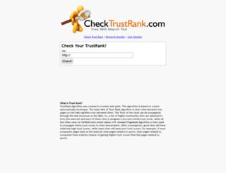 checktrustrank.com screenshot