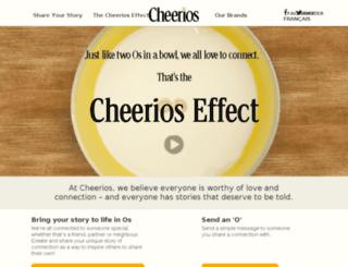 cheerioseffect.ca screenshot