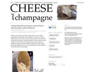 cheeseandchampagne.com screenshot