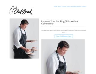 chefbrad.com screenshot