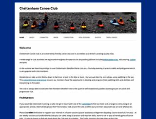 cheltenhamcanoeclub.co.uk screenshot