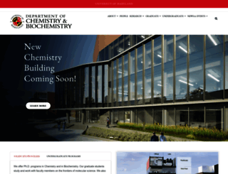 chem.umd.edu screenshot