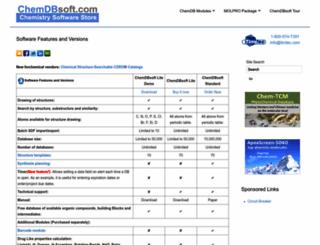 chemdbsoft.com screenshot