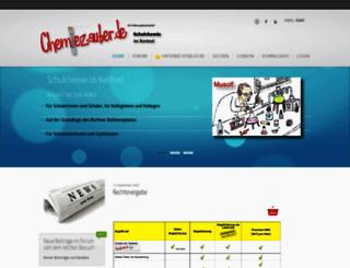 chemiezauber.de screenshot