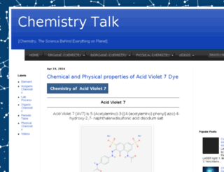 chemistry-talk.com screenshot