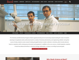 chemistry.bard.edu screenshot