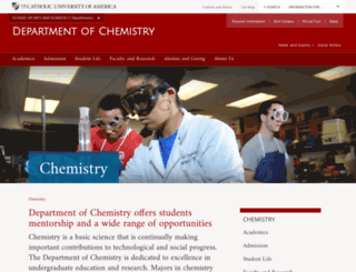 chemistry.cua.edu screenshot