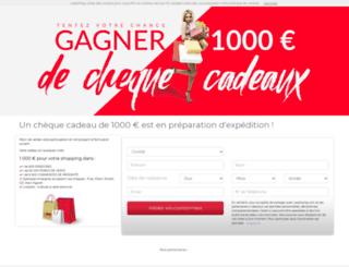 chequescadeaux.leadnplay.com screenshot