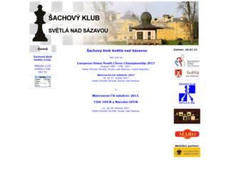chess-svetla.cz screenshot
