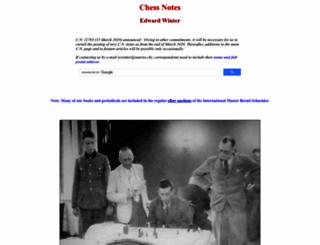 chesshistory.com screenshot