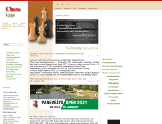 chesslyga.lt screenshot