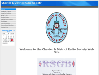 chesterdars.org.uk screenshot