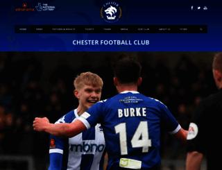 chesterfc.com screenshot