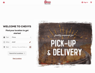 chevys.olo.com screenshot