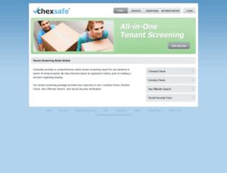 chexsafe.com screenshot