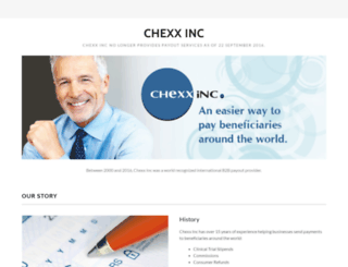 chexxinc.com screenshot