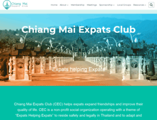 chiangmaiexpatsclub.com screenshot