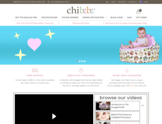 chibebe.com.au screenshot