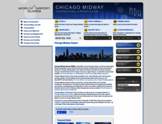 chicago-mdw.worldairportguides.com screenshot