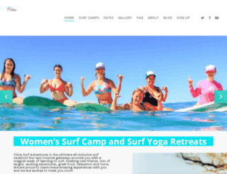 chicasurfadventures.com screenshot