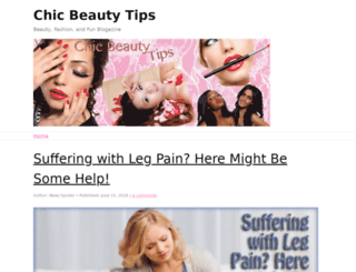chicbeautytips.com screenshot