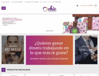chiccomplementos.com screenshot
