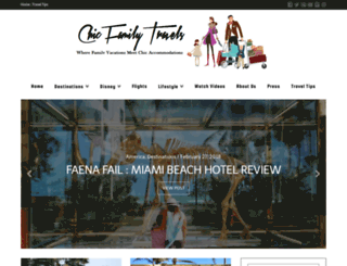 chicfamilytravels.com screenshot