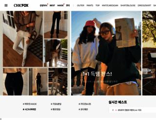 chicfox.co.kr screenshot