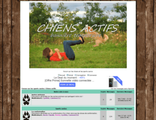 chiensactifs.forumactif.org screenshot