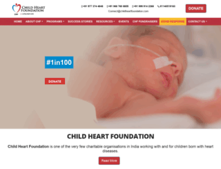 childheartfoundation.com screenshot