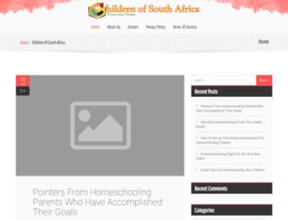 childrenofsouthafrica.org screenshot