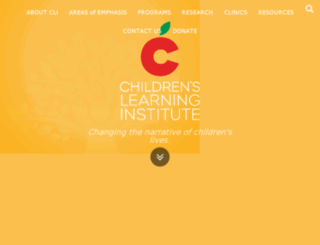 childrenslearninginstitute.org screenshot