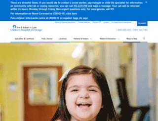 childrensmemorial.org screenshot