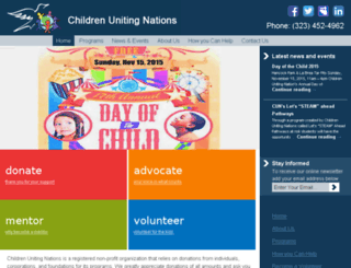 childrenunitingnations.org screenshot