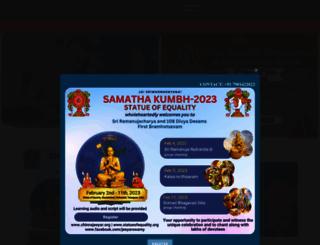 chinnajeeyar.org screenshot