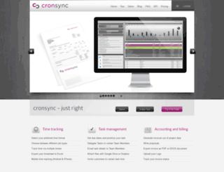 chinook.cronsync.com screenshot