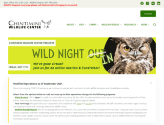 chintiminiwildlife.org screenshot