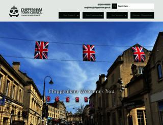 chippenham.gov.uk screenshot