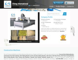 chiraginternational.co.in screenshot