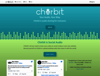 chirbit.com screenshot