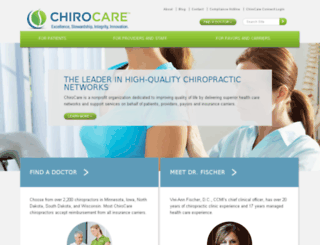 chirocaremn.org screenshot