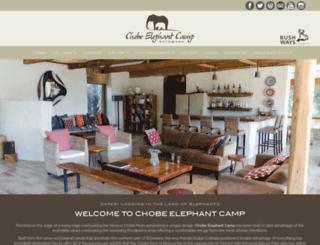 chobeelephantcamp.com screenshot
