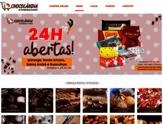 chocolandia.com.br screenshot