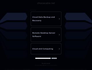 choicecable.net screenshot